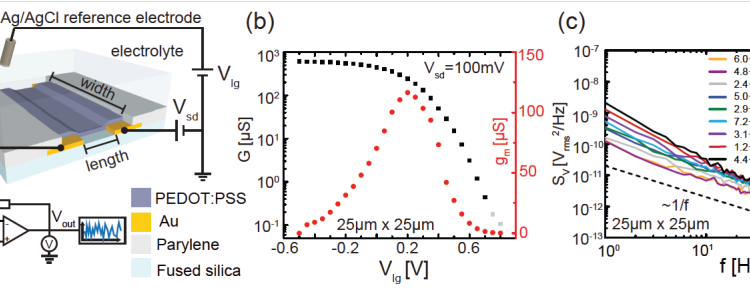 Just accepted: Charge noise in organic electrochemical transistors